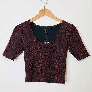 🎉5 for $25🎉 NWT Forever 21 Sparkle Crop Top